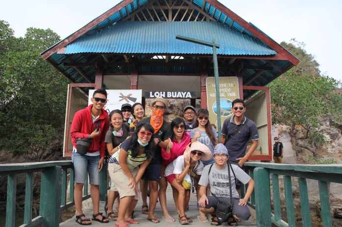 Full team at Pulau Rinca. Thank you guys for the fun holiday! :* (Photo by Tutus)